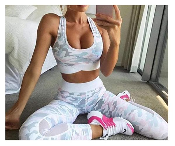 Conjunto gym mujer camuflaje