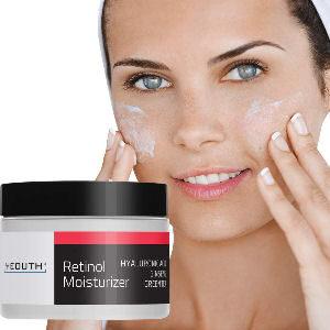 Crema hidratante para rostro Retinol con ácido hialurónico