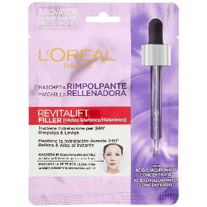 Mascarilla l´Oreal revitalift anti edad cuidado facial con ácido hialurónico