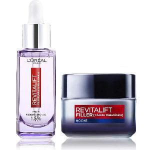 Pack Revitalift rutina con crema de noche de L´Oreal y sérum con ácido hialurónico